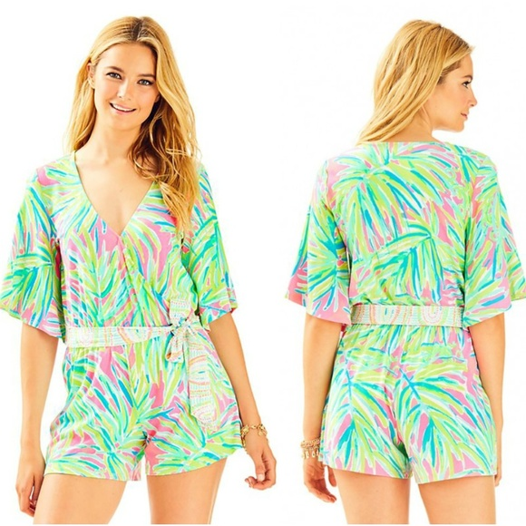 59a5aff7920f Lilly Pulitzer Madilyn Romper  178 Small. NWT